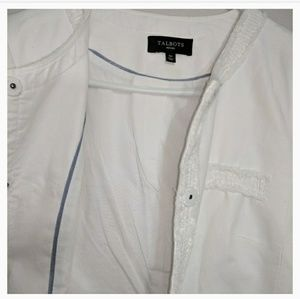Talbots Jackets & Coats - Pure White  Fringe Blazer